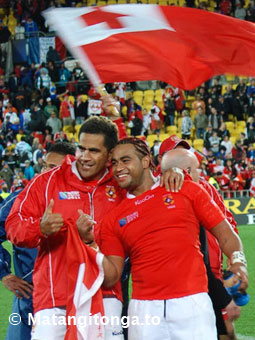 Captain Finau Maka and Taniela Moa