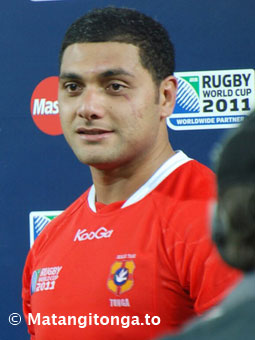 The man of the match, Sione Kalamafoni