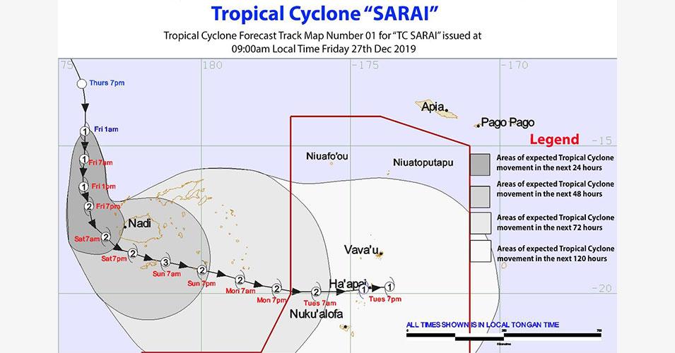 Hundreds evacuated as Tropical Cyclone Sarai hits Fiji