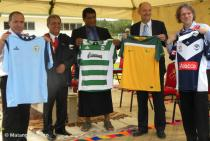 Soccer gear presented to the Tonga Football Association by the Government of Isr