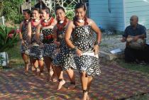 Tongan dancers at Nukunuku, Tongatapu