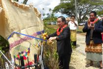 The Japanese Ambassador to Tonga HE Mr Yasuo Takase commissions and aid project at St. Joseph's Business College in Nuku'alofa