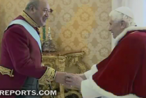 King George Tupou V meets Pope Benedict